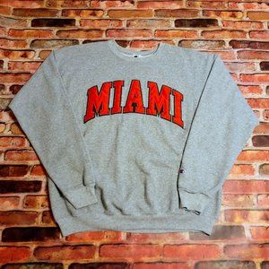 Miami Hurricane Champion Sweatshirt Men's L